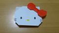 "【Origami】折り紙でつくる「ハローキティ」の折り方/""Hello Kitty"" origami"