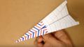 【Origami】折り紙でつくるよく飛ぶ「紙飛行機」の折り方 ・作り方