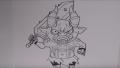 【アニメお絵描き】黒鬼の書き方/妖怪ウォッチの絵やイラストの描き方(How To Draw Yo-Kai Watch 요괴워치)