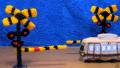 【子ども向け手作り電車アニメ】あみぐるみ踏切ムービー/Animation of railroad crossing