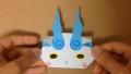 【Origami】折り紙でつくる「妖怪ウォッチのコマさん」の折り方