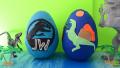 【英語であそぼう】大きな卵の中からたくさん出てくる恐竜/子どもと一緒に遊びながら英語を覚えよう!