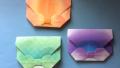 【Origami】折り紙でつくる「リボンの封筒」の折り方/Origami Bowtie Envelope