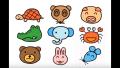 【楽しく絵描き歌】動物のお絵かき/かめ、くま、たぬき、ぞう、うさぎ、ぶた、カニ、ねずみ