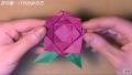 【折り紙】おりがみでつくる「薔薇(バラ)の花」の折り方・作り方