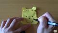 【折り紙】おりがみでつくる「くまのプーさん」の折り方・作り方/Origami Winnie the Pooh