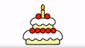 【子どもがハマる絵描き歌】ジッタちゃんのえかきうた「デコレーションケーキ」