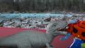 【おもちゃの恐竜で遊ぼう】おもちゃの恐竜とロボットの恐竜との戦い!