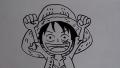 【簡単!お絵描き】ワンピース ルフィの描き方[ペン画編]/drawing japanese anime